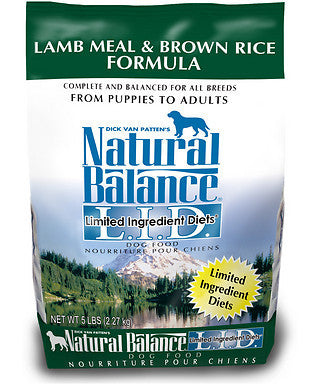 Natural Balance Lamb & Brown Rice Dry Dog Food