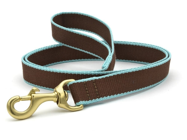 Up Country Green Market Bamboo Leash Brown/Aqua