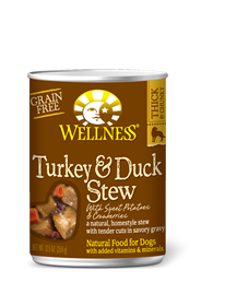 Wellness Turkey & Duck Stew Grain Free Can Dog Food 12.5oz