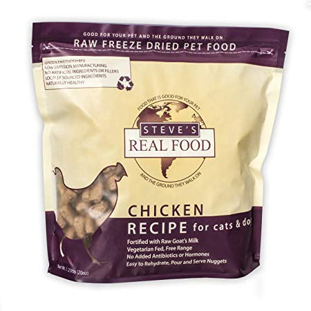 Steve's Real Food Freeze Dried Raw Chicken Dog Food 20oz