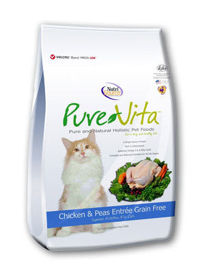 Pure Vita Chicken & Peas Grain Free Dry Cat Food