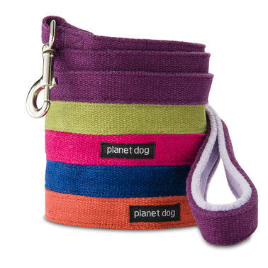 Planet Dog Cozy Hemp Leash Purple