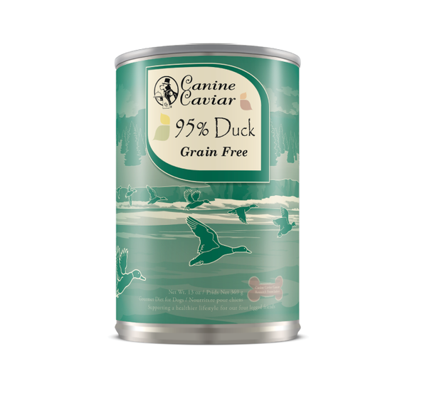 Canine Caviar 95% Duck Grain Free Can Dog Food 13oz