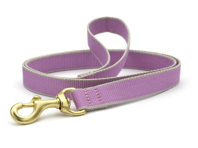 Up Country Green Market Bamboo Leash Lilac/Gray