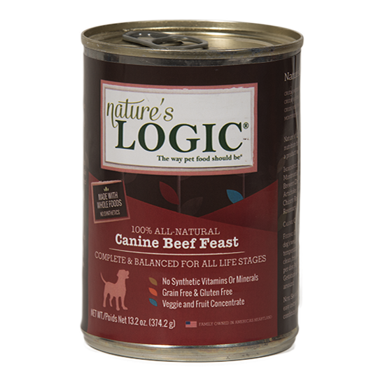 Nature's Logic Beef Feast Grain Free Can Dog Food 13.2oz