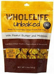 Whole Life Unbaked Peanut Butter Freeze Dried Dog Treats 2.3oz