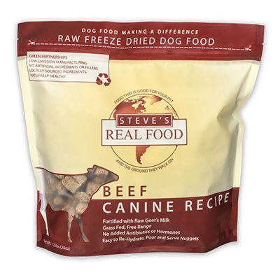 Steve's Real Food Freeze Dried Raw Beef Dog Food 20oz