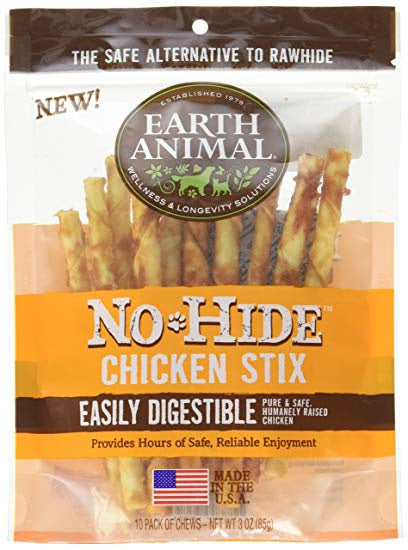 Earth Animal No-Hide Chicken Stix 10pk