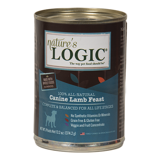 Nature's Logic Lamb Feast Grain Free Can Dog Food 13.2oz