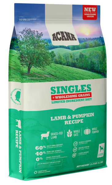 Acana Singles + Wholesome Grains Lamb & Pumpkin Dog Food