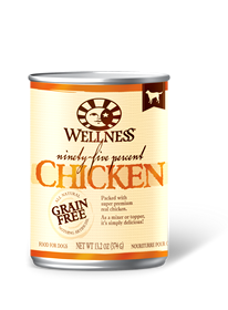 Wellness 95% Chicken Grain Free Can Dog Food 13.2oz