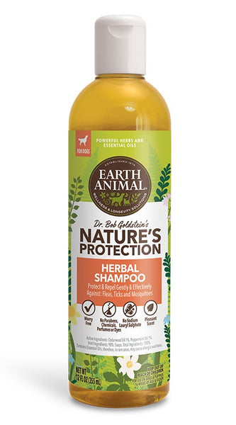 Earth Animal Herbal Flea & Tick Shampoo for Dogs 12oz