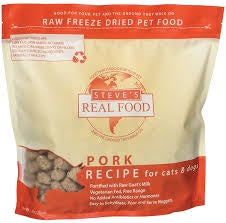 Steve's Real Food Freeze Dried Raw Pork Dog Food 20oz