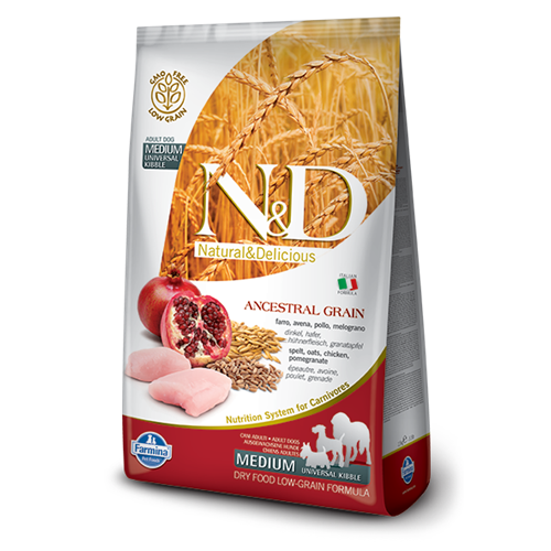 Farmina Natural and Delicious Low Grain Adult Chicken & Pomegranate Dry Dog Food