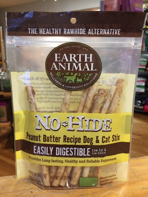 Earth Animal No Hide Peanut Butter Stix 10ct