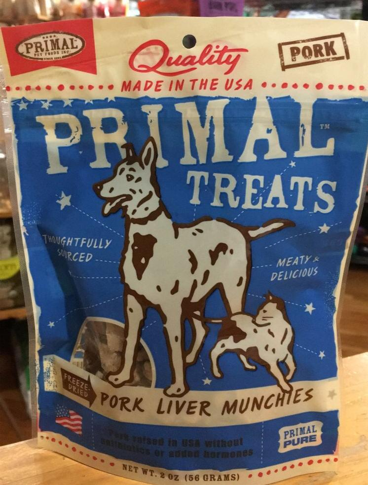 Primal Pork Liver Munchies Dog Treats 2oz