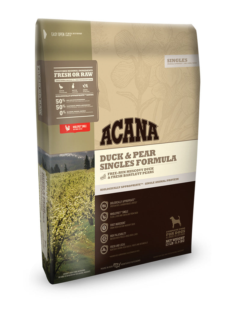 Acana Duck & Pear Singles Grain Free Dry Dog Food