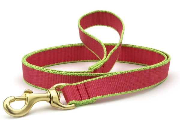 Up Country Green Market Bamboo Leash Pink/Lime