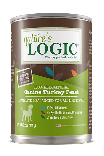 Nature's Logic Turkey Feast Grain Free Can Dog Food 13.2oz