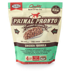 Primal Pronto Chicken Niblets Frozen Raw Dog Food 4lb