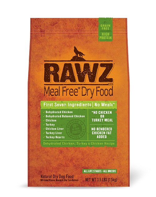 Rawz Dehydrated Chicken, Turkey & Chicken Recipe Dry Dog Food