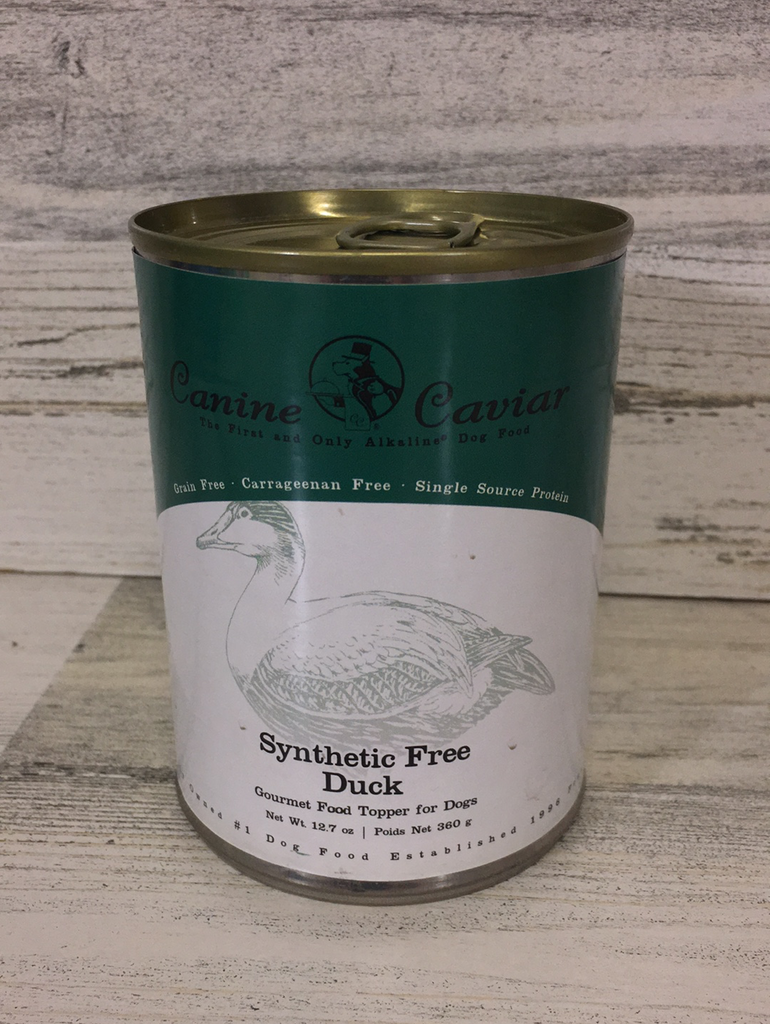 Canine Caviar Synthetic Free Duck Grain Free Can Dog Food 12.7oz