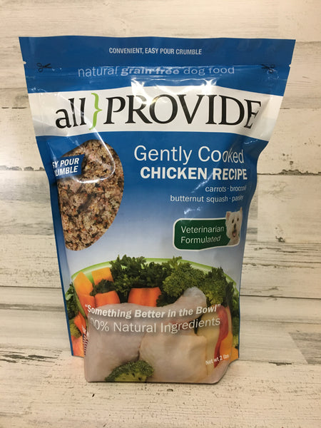 All Provide Chicken Crumbles Cooked Dog Food 2lb