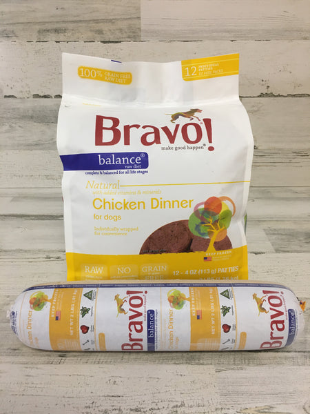 Bravo Balance Chicken Frozen Raw Dog Food