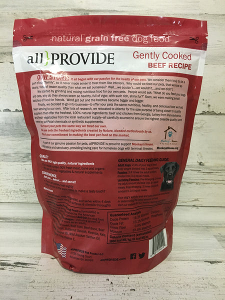 All Provide Beef Crumbles Cooked Dog Food 2lb