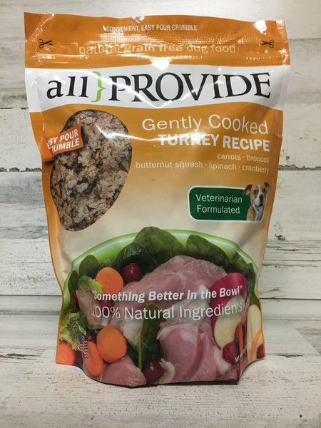 All Provide Turkey Crumbles Cooked Dog Food 2lb