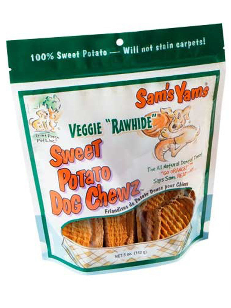 "Sam's Yams Sweet Potato Dog Chewz Veggie ""Rawhide"""