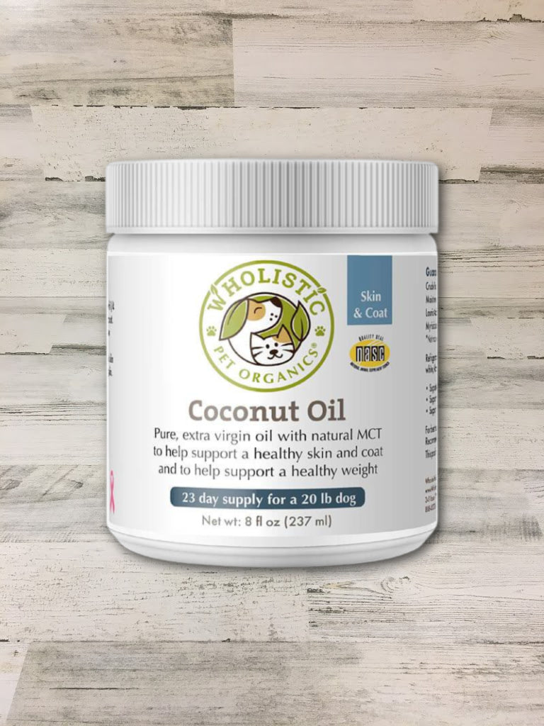 Wholistic Pet Organics Coconut Oil 8oz