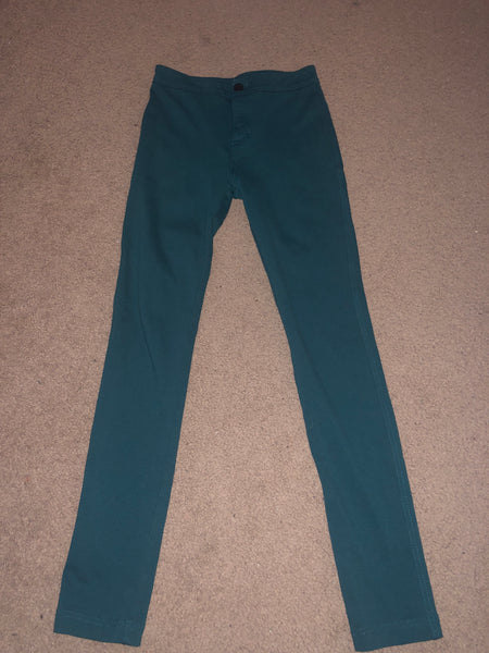 Forever 21 High Waist Dark Teal Jeggings Size XS