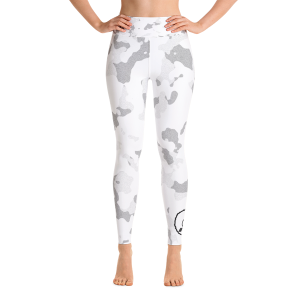 LIGHT Grey Camo Donut Premium Leggings