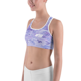 PURPLE CAMO IIFYM Sports bra