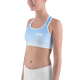 Blue Ombre IIFYM Sports bra