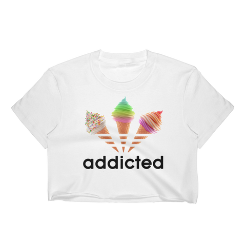 ADDICTED Ladies Crop Tee