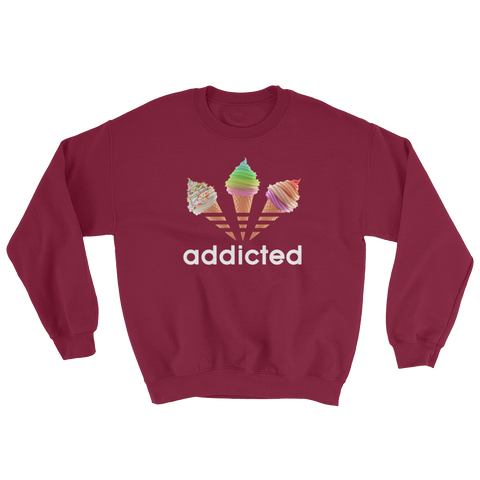 ADDICTED MAROON CREW NECK