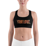 TRUE LOVE PIZZA Sports bra