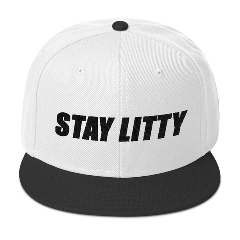 STAY LITTY White Snap Back