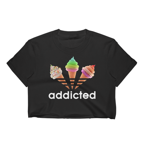 ADDICTED Black Crop Top