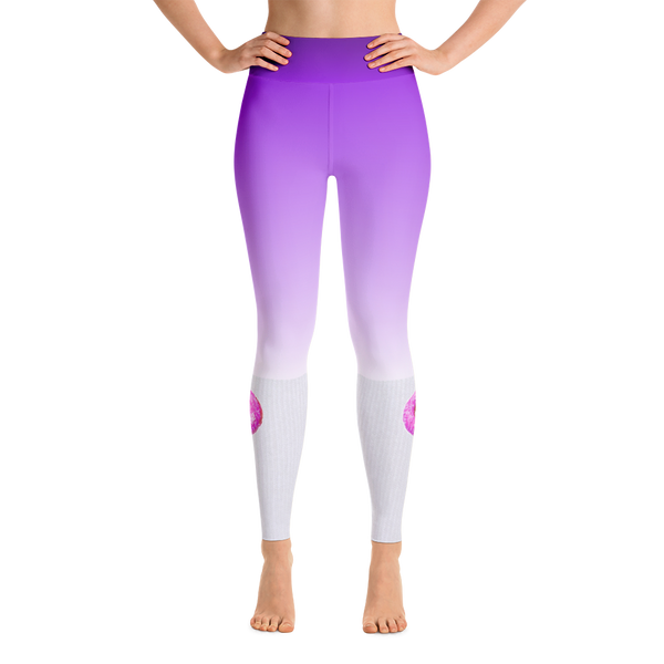PURPLE OMBRE DONUT KNEE HIGH LEGGINGS