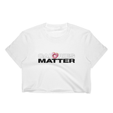 CALORIES MATTER White Crop Top