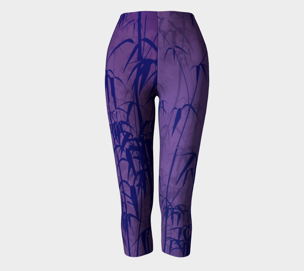 Purple Bamboo Capris