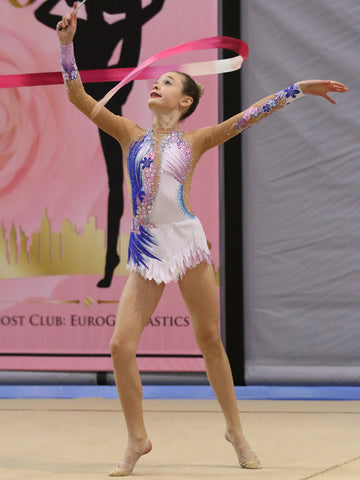 White, Blue & Pink Leotard