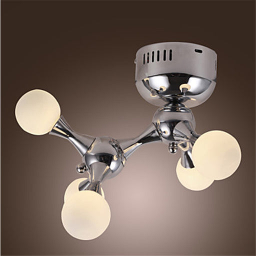 Eleganzo Collection 100W 5 Light White Globe Light