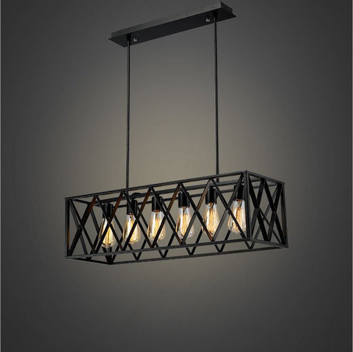 INDUSTRIO COLLECTION BLACK METAL LONG LIGHT