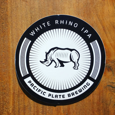 White Rhino IPA sticker
