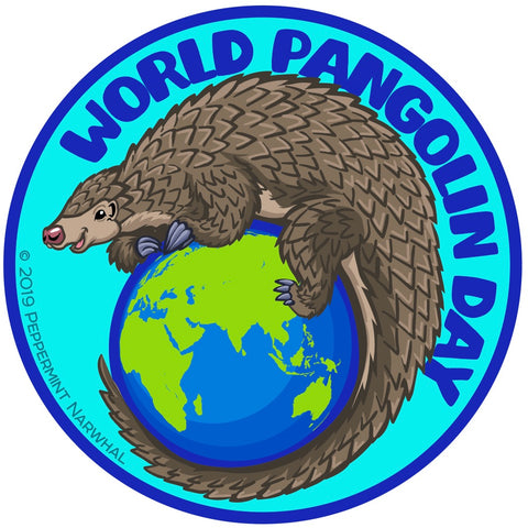 World Pangolin Day Sticker - Peppermint Narwhal Collaboration
