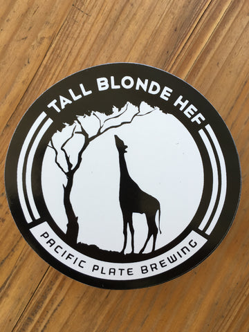 Tall Blonde Hef Sticker